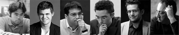 Les participants du « Zurich Chess Challenge » 2014